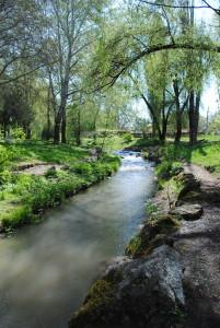 Река Салгир украшает наш школьный двор